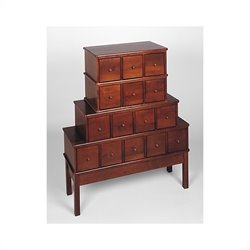 15-Drawer CD DVD Storage Cabinet in Walnut