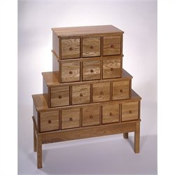 15-Drawer CD DVD Storage Cabinet in Oak