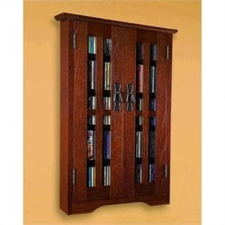 Wall Hanging Multimedia Cabinet in Walnut