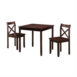 3 Piece Dining Set in Cappuccino