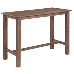 Pub Table in Gray and Brown