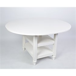 Drop Leaf Dining Table in White