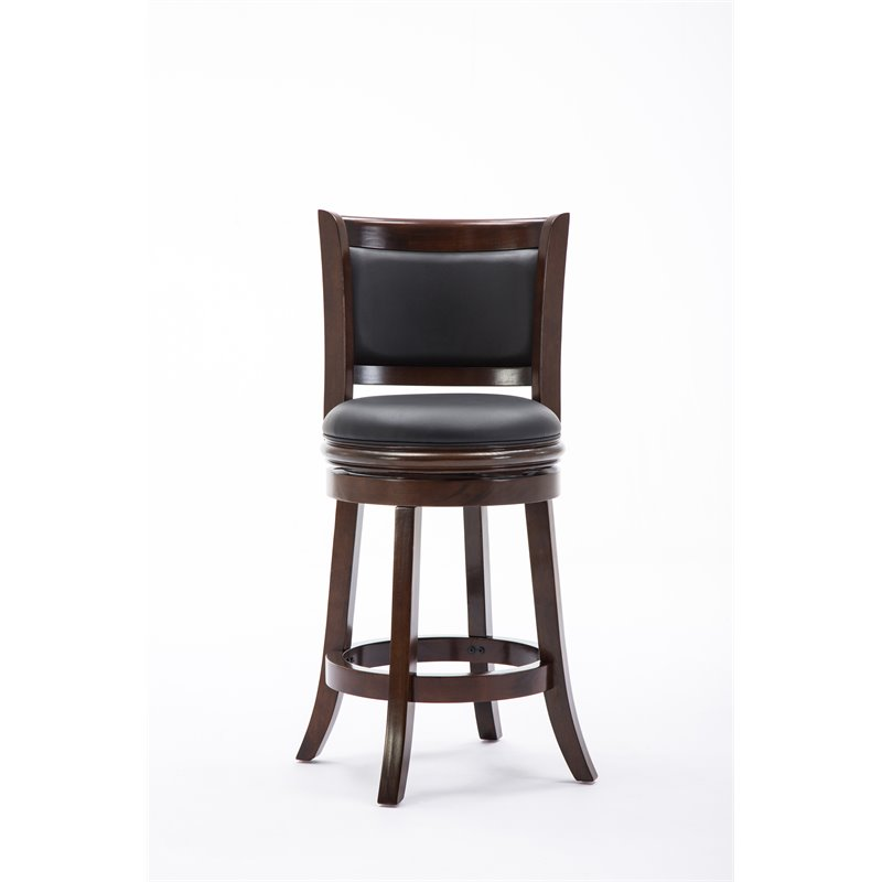 24 Quot Swivel Counter Stool In Cappuccino 48824