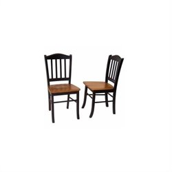 Dining Chair in Black and Oak (Set of Two)