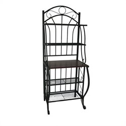 4 Shelf Baker's Rack in Black