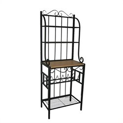 Praha 4 Shelf Baker's Rack in Black