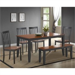 Boraam Bloomington Dining Set in Black/Cherry