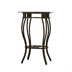 Boraam Beau Round Pub Table in Brown/Bronze