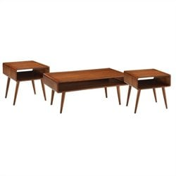 3 Piece Dansk Occasional Table Set in Rich Walnut