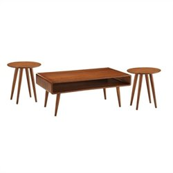 3 Piece Occasional Table Set in Rich Walnut