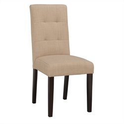Boraam Lyon Parsons Upholstery Dining Chairs (Set of 2) in Khaki