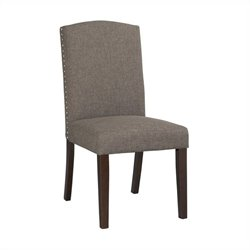 Boraam Champagne Parsons Upholstery Dining Chairs (Set of 2) in Steel-Gray