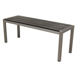 Polylumber Bench in Solid Brushed Aluminum