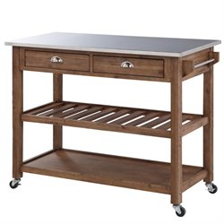 Boraam Sonoma Wire Brush Finish Kitchen Cart