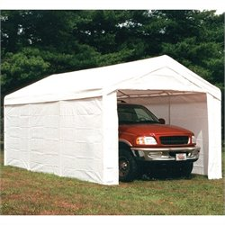 ShelterLogic Super Max 10'x20' 2-in-1 Canopy with Enclosure Kit in White