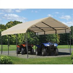 ShelterLogic Carport-in-a-Box 12' x 20' x 9' Canopy in Sandstone