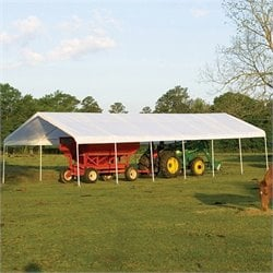 ShelterLogic 18'x40' Super Max Premium Canopy in White