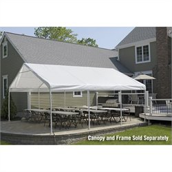 ShelterLogic Super Max 18'x20' Premium Canopy Replacement Cover in White