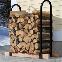 ShelterLogic Lumber Rack Firewood with 2 Adjustable Brackets in Black