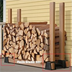ShelterLogic Lumber Rack Firewood Bracket Kit (2 Piece) in Wood