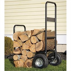 ShelterLogic Haul It Wood Mover Rolling Firewood Cart in Black
