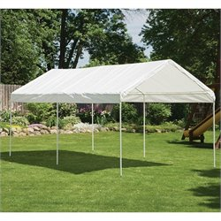 ShelterLogic 10'x20' Canopy 3 Rib Frame Cover in White