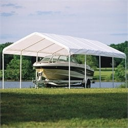 ShelterLogic 12'x26' Super Max 5 Rib Canopy Cover in White
