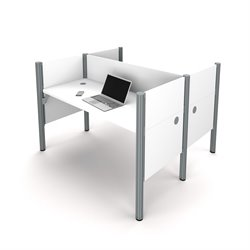 Bestar Pro-Biz 2 Person Workstation in White