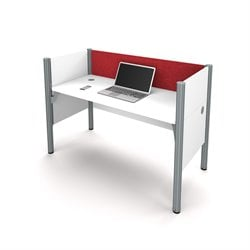 Bestar Pro-Biz Workstation in White and Red