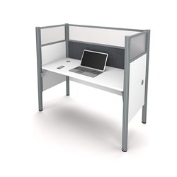 Bestar Pro-Biz Workstation in White and Gray