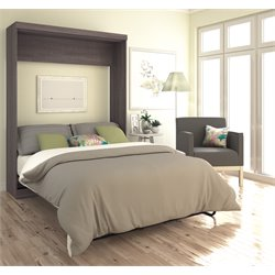 Bestar Pur Wall Bed in Bark Grey