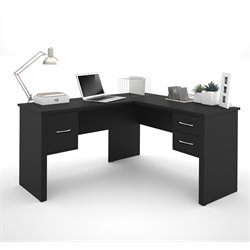 Bestar Somerville L-Desk in Black
