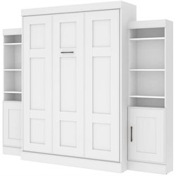 Edge Wall Bed with Storage (2 bookcaes) in White
