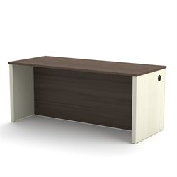 Bestar Prestige Plus Executive Desk in White Chocolate and Antigua