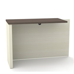 Bestar Prestige Plus Return Table in White Chocolate and Antigua