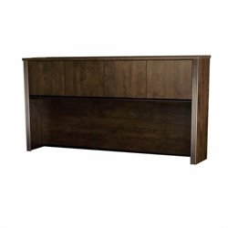 Bestar Prestige + Hutch for Credenza in Chocolate