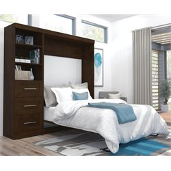 Bestar Pur Wall Bed in Chocolate-A