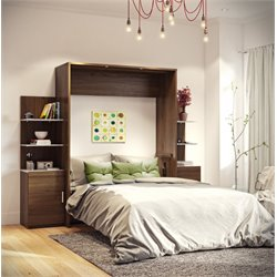 Bestar Cielo Wall Bed Kit in Oak Barrel
