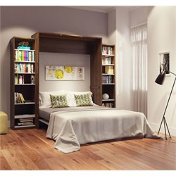 Bestar Cielo Classic Wall Bed Kit in Oak Barrel