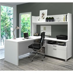 Bestar Pro-Linea L-Shaped Home Office Desk
