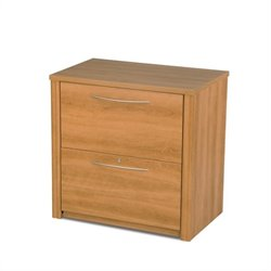 Bestar Embassy 2 Drawer Lateral Wood File Storage Cabinet in Cappuccino Cherry