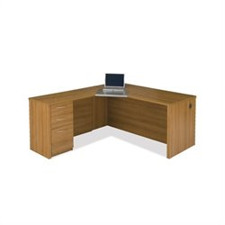 Bestar Embassy Corner Desk in Cappuccino Cherry