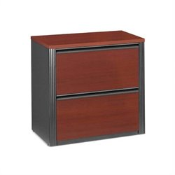 Bestar Prestige + 2 Drawer Lateral Wood File Cabinet In Bordeaux