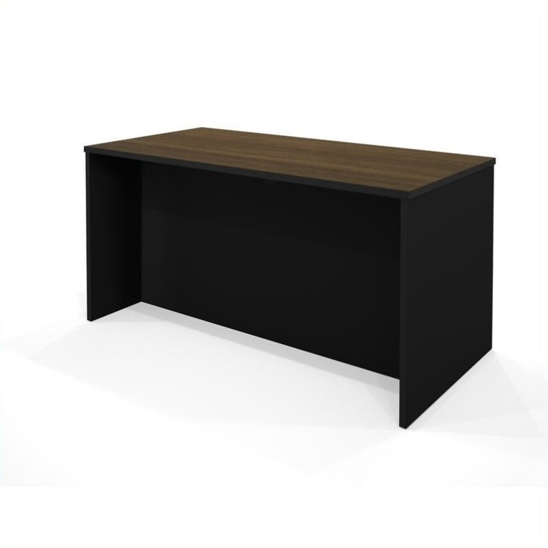 Bestar Pro-Concept Executive Desk in Milk Chocolate and Black