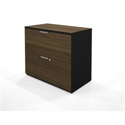 Bestar Pro-Concept Lateral File in Black and Milk Chocolate