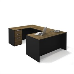 Bestar Pro-Concept U-Shaped Workstation with Pedestal