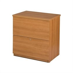 Bestar 2 Drawer Lateral Wood File Storage Cabinet in Cappuccino Cherry