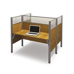 Bestar Pro-Biz Double Face to Face Desk in Cappuccino Cherry