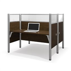 Bestar Pro-Biz Double Face to Face Desk in Chocoilate