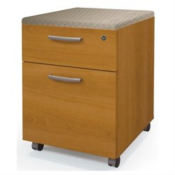 Bestar Pro-Biz Assembled Mobile Wood Pedestal in Cherry